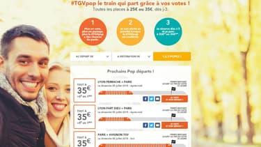 Pour le dimanche 5 juillet, c'est le Paris-Avignon qui a la faveur des internautes avec un taux de remplissage de 80%
