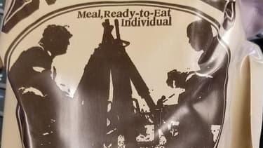 L'emballage des rations de viande de l'armée américaine