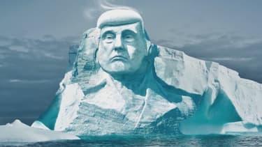 Un groupe d'activistes finlandais veut sculpter le portrait de Trump dans un icerberg pour alerter sur le réchauffement climatique.