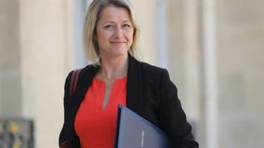 La nouvelle ministre de la Transition écologique Barbara Pompili, sur le perron de l'Elysée le 7 juillet 2020.