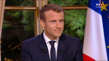 Emmanuel Macron sur TF1/LCI le 15 octobre 2017