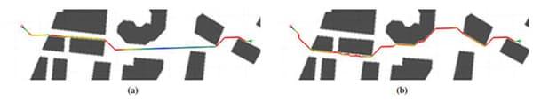 Les trajectoires du drone
