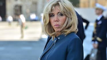 Brigitte Macron, le 14 juillet 2017.