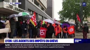 Lyon : les agents des impôts en grève