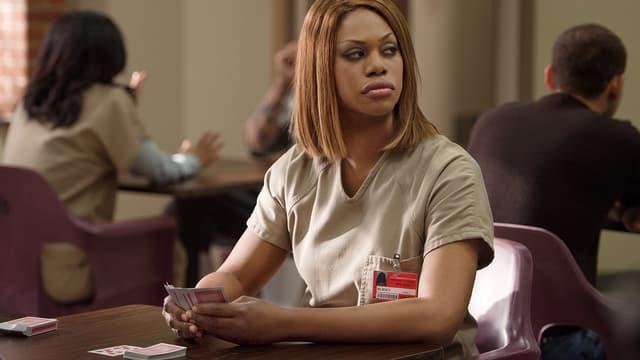 """Laverne Cox, actrice transgenre de la série """"Orange is the new black"""""""
