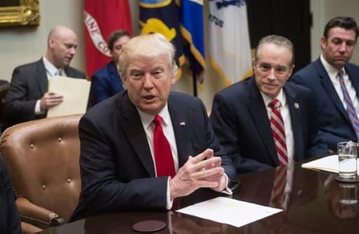 Donald Trump à la Maison Blanche à Washington 16 février 2017