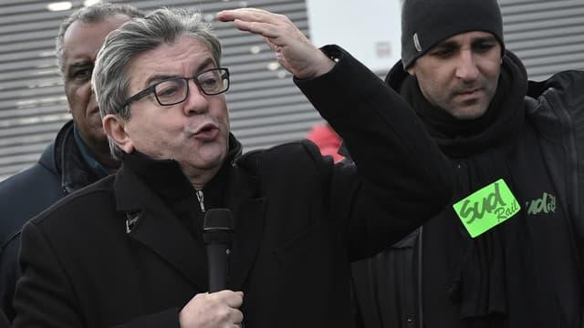 Jean-Luc Mélenchon le 24 décembre 2019 à la gare de Lyon à Paris.