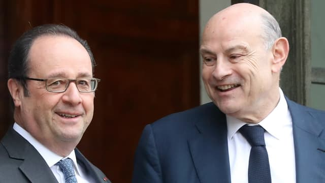 Jean-Marie Le Guen en compagnie de François Hollande.