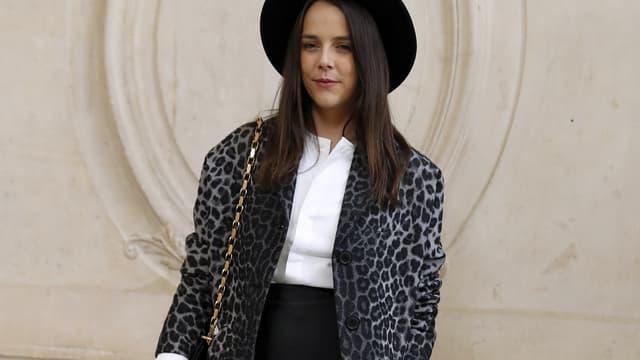 Pauline Ducruet avant le défilé Dior à Paris