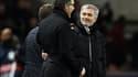 Laurent Blanc avec José Mourinho