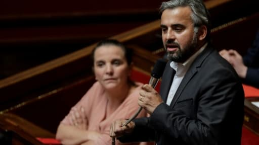 Le député de la France insoumise Alexis Corbière (D) à l'Assemblée nationale, le 26 juin 2018