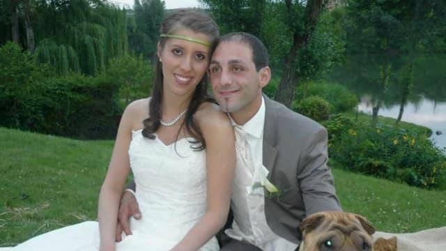 Delphine et Cédric Jubillar le jour de leur mariage.
