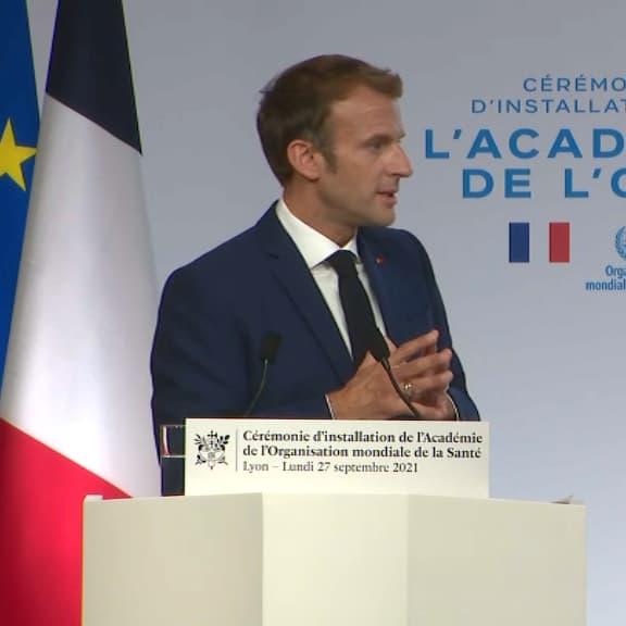 EN DIRECT - Emmanuel Macron à Lyon pour l'installation de l'Académie de l'OMS