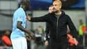 Benjamin Mendy et Pep Guardiola (Manchester City)