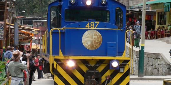 Le type de locomotive utilisé sur la ligne du Machu Picchu.