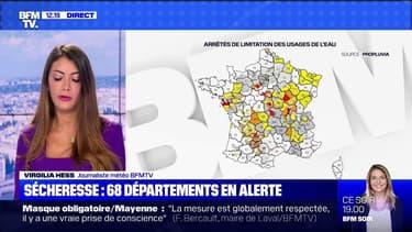 Sécheresse: 68 départements font l'objet de restrictions d'eau