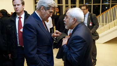 John Kerry et Mohammad Javad Zarif à Vienne le 16 janvier 2016