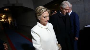 Hillary Clinton et Bill Clinton le jour de l'investiture de Donald Trump.