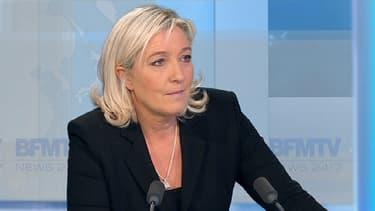 """Selon Marine Le Pen, il n'y a """"pas de risque nazi en France""""."""