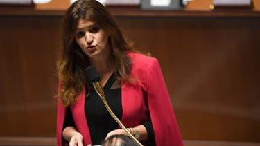 La secrétaire d'Etat à l'égalité entre les femmes et les hommes Marlène Schiappa, le 27 novembre 2018 à l'Assemblée nationale. (Photo d'illustration)
