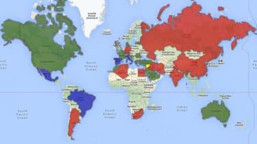 BFMTV.com répertorie, sur une carte amenée à évoluer au fil des jours, les partisans et les opposants à une intervention en Syrie.