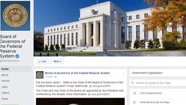 La Fed a lancé aujourd'hui sa page Facebook