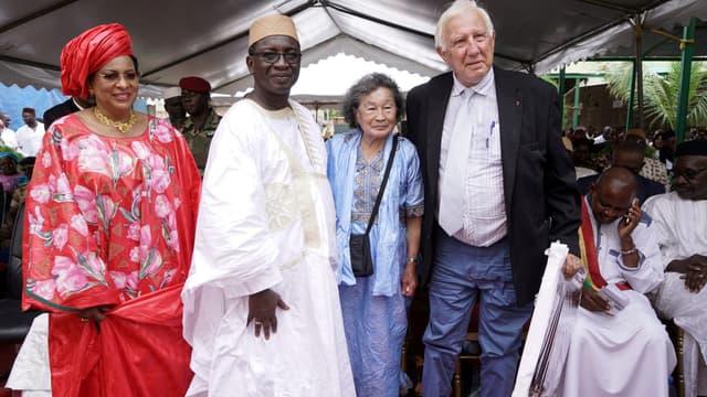 Lors de la cérémonie d'inauguration du centre André-Festoc à Bamako, le 10 septembre 2018.