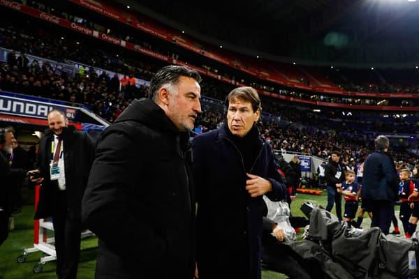 Christophe Galtier et Rudi Garcia en 2019