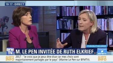 Marine Le Pen face à Ruth Elkrief (1/2)