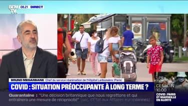 """Le Pr Bruno Mégarbane recommande le port du masque """"dans les espaces clos publics et """"en réunion intrafamiliale"""""""