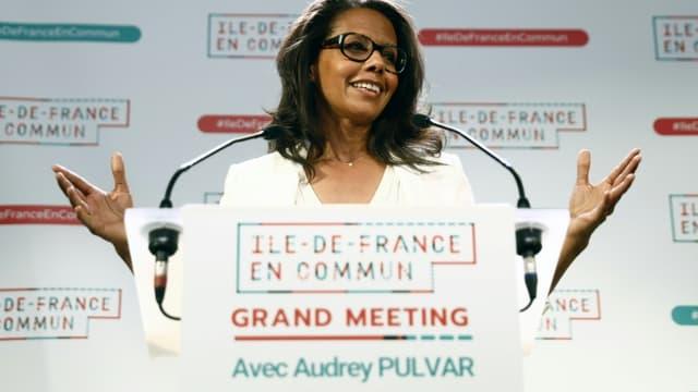 Audrey Pulvar le 16 juin 2021 à Paris