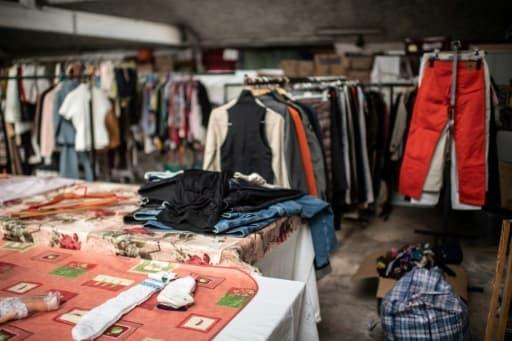 Boutique Emmaüs à Ivry-sur-Seine, le 20 avril 2020