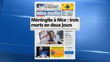 La une de Nice-Matin mardi, consacrée aux deux victimes.