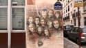 Les visages des journalistes de Charlie Hebdo ont été représentés par un graffeur sur la façade du bâtiment.