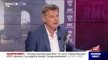 """Fabien Roussel (PCF): """"Pour ces laboratoires pharmaceutiques, ce coronavirus est une 'opportunité économique', c'est honteux"""""""