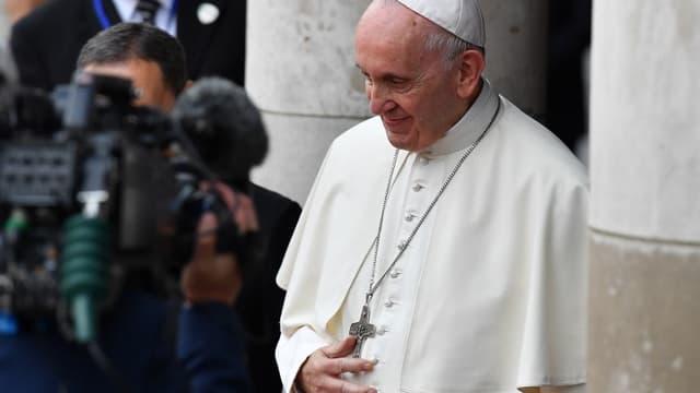 Le pape François ce samedi 25 août à Dublin.
