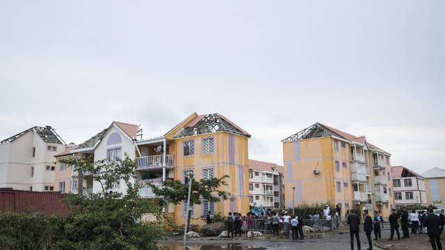 Un quartier de Saint-Martin après l'ouragan Irma.