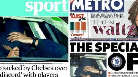 Le faux José Mourinho en une de tous les journaux