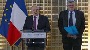 Michel Sapin et Christian Eckert annoncent que le déficit sera moins élevé que prévu en 2015.