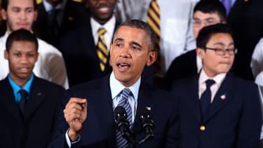 Barack Obama lors de son discours en faveur des minorités à la Maison Blanche le 27 février 2014.