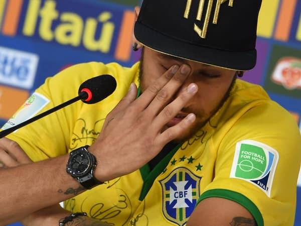 Neymar en larmes