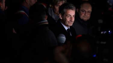 Nicolas Sarkozy place de la République, à Paris, le 19 février.