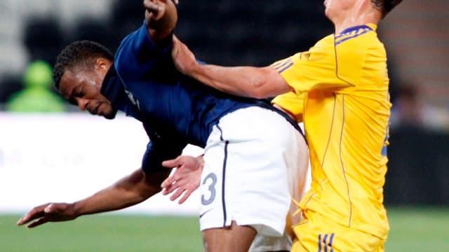 Patrice Evra a pris des responsabilités lundi en Ukraine