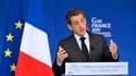 Nicolas Sarkozy en a appelé vendrredi aux opinions publiques pour forcer les pays riches à accepter la mise en place d'une taxe sur les transactions financières, lors d'une conférence sur le développement dans le cadre du G20. /Photo prise le 21 octobre 2