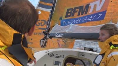 Le bateau GDF-Suez pour lequel BFMTV est partenaire.
