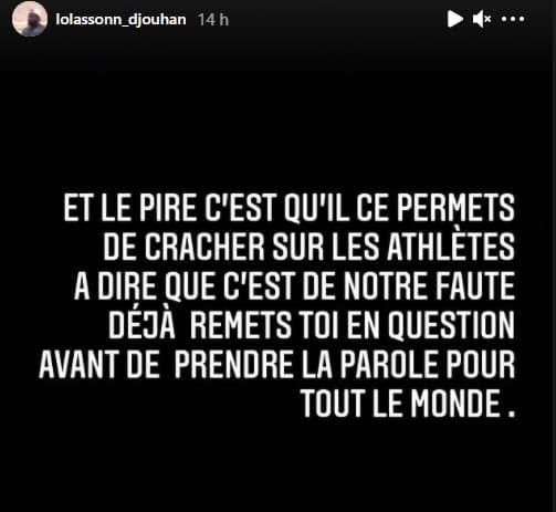 L'échange houleux entre Lolassonn Djouhan et Quentin Bigot sur Instagram.