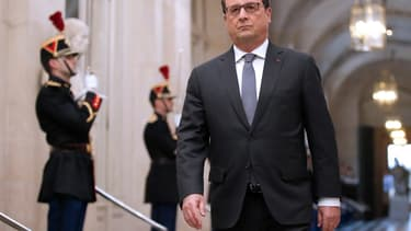 François Hollande arrivant à Versailles le 16 novembre.