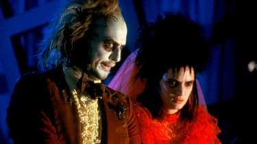 Michael Keaton et Winona Ryder, dans Beetlejuice, de Tim Burton, en 1988.