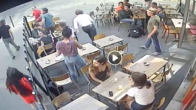 Les images de l'agression de Marie Laguerre.