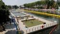 Les zones de baignade autorisée au bassin de la Villette (Paris, 19e)